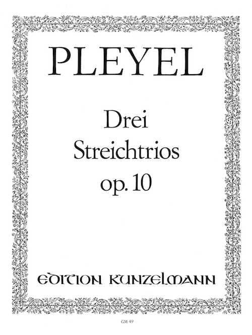 3 Streichtrios op. 10 -Stimmen - Ignaz Pleyel - laflutedepan.com