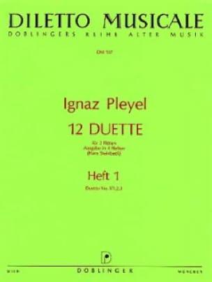 12 Duette, Heft 1 N° 1/1, 2, 3 - 2 Flöten - laflutedepan.com