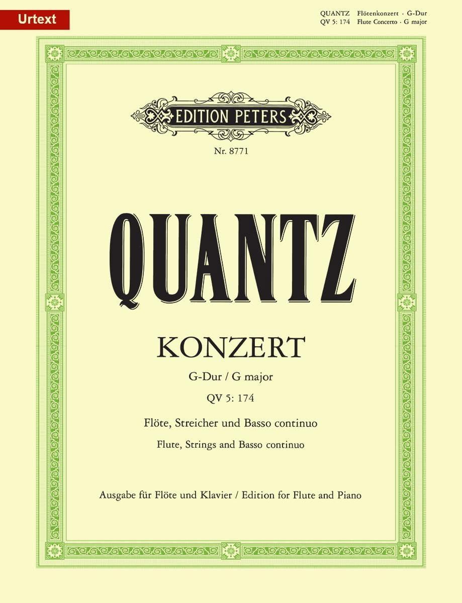 Johann Joachim Quantz - Konzert G-Dur QV 5: 174 - Klavier Float - Partition - di-arezzo.co.uk
