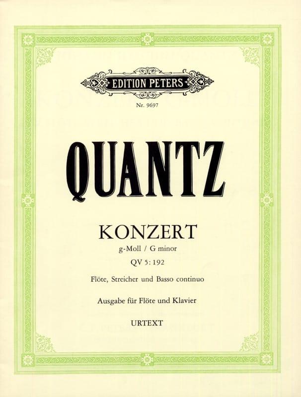 Johann Joachim Quantz - Konzert g-moll QV 5: 193 - Flauta Klavier - Partition - di-arezzo.es