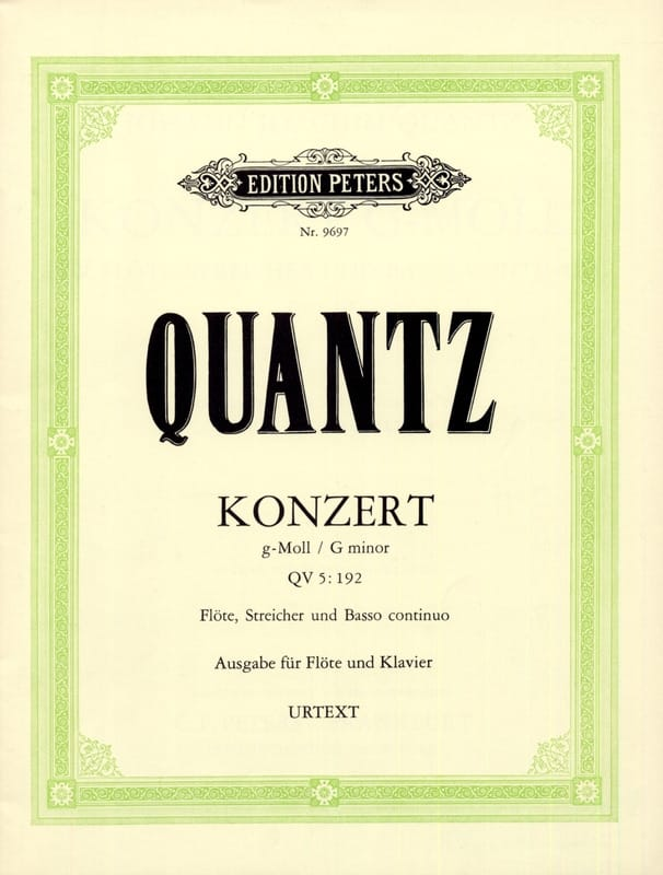 Johann Joachim Quantz - Konzert g-moll QV 5: 193 - Klavier Flute - Partition - di-arezzo.co.uk