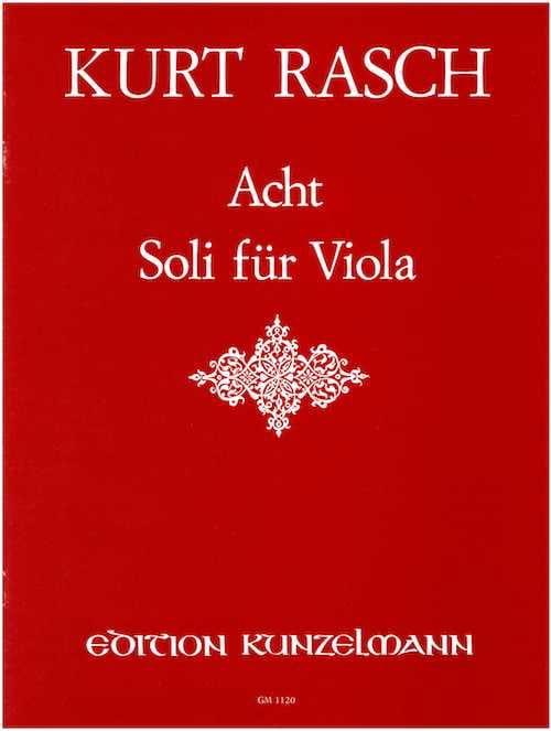 8 Soli für Viola op. 40 - Kurt Rasch - Partition - laflutedepan.com
