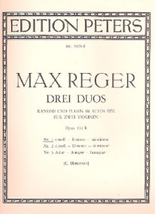 Duo op. 131b n° 1, mi mineur - Max Reger - laflutedepan.com
