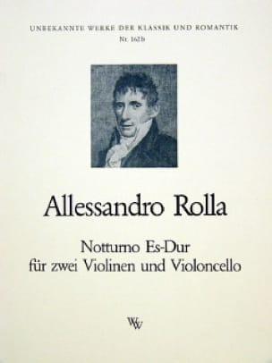 Alessandro Rolla - Notturno Es-Dur - 2 Violinen Violoncello - Stimmen - Partition - di-arezzo.co.uk