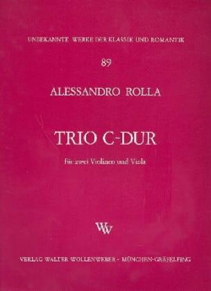 Alessandro Rolla - Trio C-Dur - 2 Violinen Viola - Stimmen - Partition - di-arezzo.co.uk