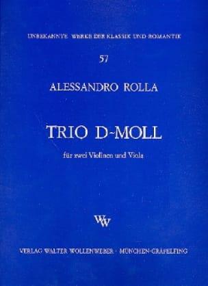 Alessandro Rolla - Trio d-moll - 2 Violinen u. Viola - Stimmen - Partition - di-arezzo.co.uk