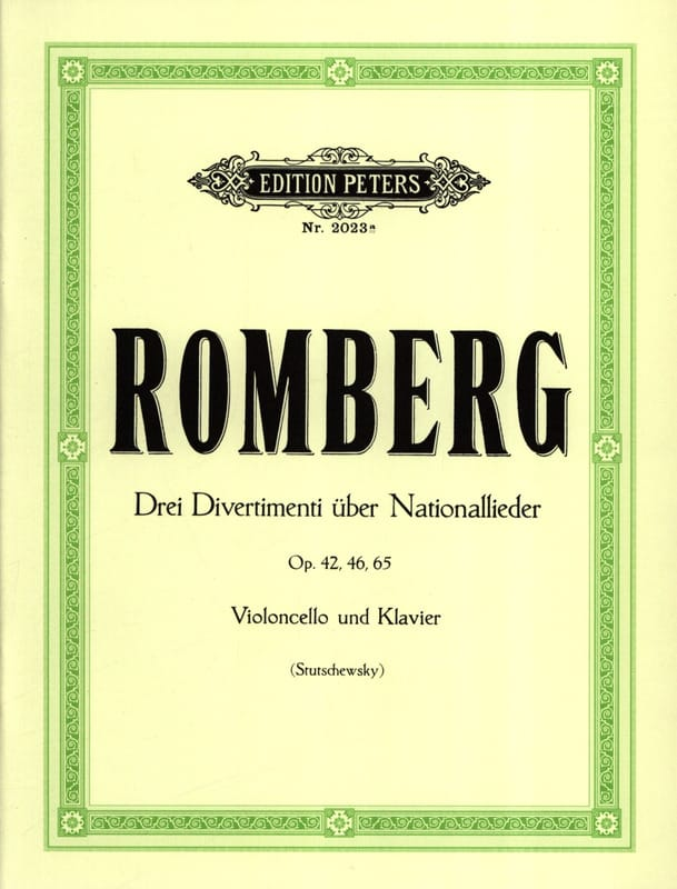 Bernhard Romberg - 3 Divertimenti über Nationallieder - Partition - di-arezzo.co.uk