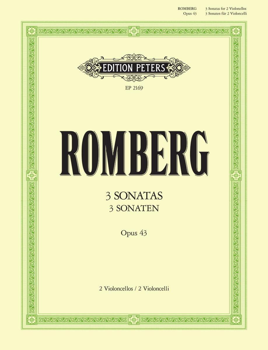 Sonaten op. 43 - ROMBERG - Partition - Violoncelle - laflutedepan.com