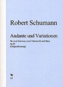 Andante et Variations op. 46 - 2 Klaviere 2 Violoncelli Horn laflutedepan.com