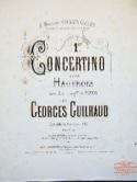 1er Concertino – Hautbois Georges Guilhaud Partition laflutedepan.com