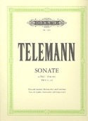 Sonate a-Moll, TWV 41 : a 6 TELEMANN Partition laflutedepan.com