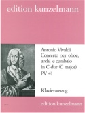 Concerto per oboe in C-Dur PV 41 F. 7 n° 6 -Oboe Klavier laflutedepan.com