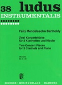 2 Konzertstücke - 2 Klarinetten und Klavier laflutedepan.com