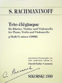 Trio élégiaque (1892)– Klavier Violine Violoncello - laflutedepan.com