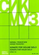 Sonate op. 115 für Violine solo - Serge Prokofiev - laflutedepan.com