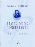 3 Duos concertants Opus 10 - 2 Flûtes laflutedepan.com