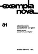 Sonate für Flöte und Gitarre Edison Denisov Partition laflutedepan