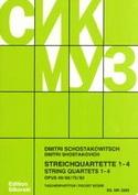 Streichquartette Nr. 1-4 - Partitur CHOSTAKOVITCH laflutedepan.com