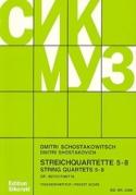 Streichquartette Nr. 5-8 CHOSTAKOVITCH Partition laflutedepan.com