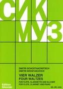 4 Walzer – Flöte Klarinette Klavier laflutedepan.com