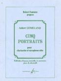 Cinq portraits Aubert Lemeland Partition Duos - laflutedepan.com