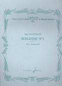 Sonatine N° 5 Op. 32 N° 1 Jean Martinon Partition laflutedepan.com