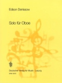 Solo für Oboe Edison Denisov Partition Hautbois - laflutedepan.com
