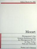 Flötenquartett G-Dur - Flöte Violine Viola Violoncello - Partitur + Stimmen laflutedepan.com