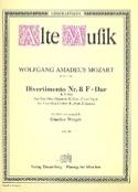 Divertimento Nr. 8 F-Dur KV 213 -Bläserquintett - Stimmen laflutedepan.com