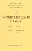 30 Dictées musicales à 2 voix - Volume 1 laflutedepan.com