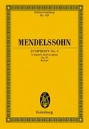 Symphonie Nr. 4 A-Dur - Partitur MENDELSSOHN laflutedepan.com