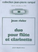 Duo pour flûte et clarinette Jean Rivier Partition laflutedepan.com