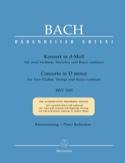 Konzert d-moll BWV 1043 –2 Violinen Klavier laflutedepan.com