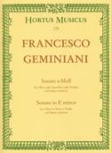 Sonate en mi mineur Francesco Geminiani Partition laflutedepan.com