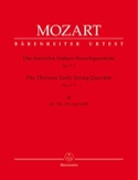 13 Frühe Streichquartette, Heft 2 KV 158-160 -Stimmen laflutedepan.com