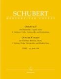 Octuor en Fa Majeur D. 803 Op. Posth 166 SCHUBERT laflutedepan.com