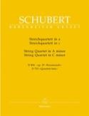 Streichquartette a-moll D 804 op. 29 / c-moll D 703 –Stimmen - laflutedepan.com