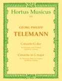 Concerto G-Dur -Flöte 2 Violinen BC TELEMANN laflutedepan.com