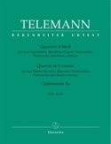 Quartett d-moll TWV 43 : d1 - 2 Querflöten Blockflöte Cello BC laflutedepan.com