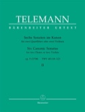 6 Sonaten im Kanon op. 5 Bd. 2 - 2 Flöten o. Violinen laflutedepan