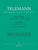 6 Sonates op. 2 Volume 1 pour 2 Flutes ou 2 violons laflutedepan.com
