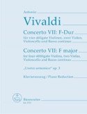 Concerto Nr. 9 F-Dur -4 Violinen Klavier VIVALDI laflutedepan.be