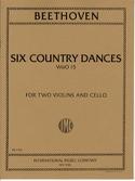6 Country Dances -2 Violins cello - Score + Parts laflutedepan.com