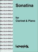 Sonatina Malcolm Arnold Partition Clarinette - laflutedepan.com