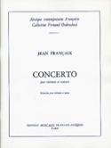 Concerto pour clarinette Jean Françaix Partition laflutedepan.com