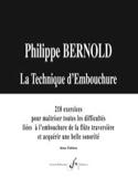 La Technique d'Embouchure Philippe Bernold Partition laflutedepan.com