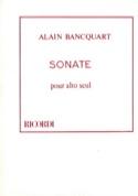 Sonate pour Alto seul - Alain Bancquart - Partition - laflutedepan.com