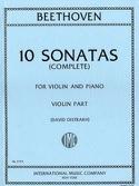 10 Sonates Oistrach - Violon et piano BEETHOVEN laflutedepan.com