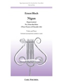 Nigun Improvisation Ernest Bloch Partition Violon - laflutedepan.com