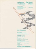 Sonate en fa mineur - Basson TELEMANN Partition laflutedepan.com